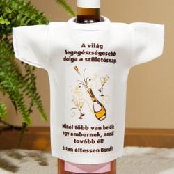 születésnapi borosüveg NagyAjándék.hu   egyedi fényképes ajándéktárgyak születésnapi borosüveg